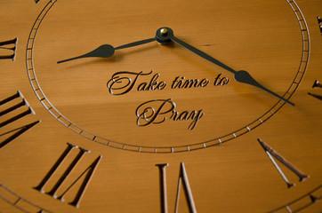 Take time to Pray Clock