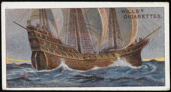 Golden Hind' (Cig.Card). Date: 1577
