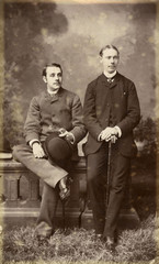 Loung Suits Photo 1890s. Date: 1890s