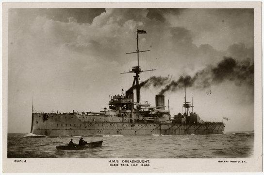 Steamship 'Dreadnought'. Date: 1906