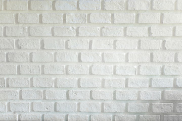 background with white bricks wall