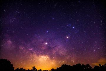 Milky Way rising over Alabama night sky