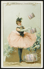 Ballerina and cans. Date: 1890