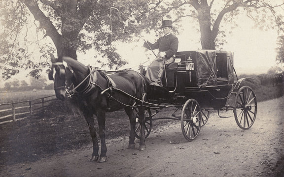 Private Carriage Photo. Date: circa 1890s