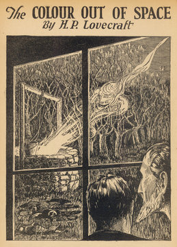Illustration  The Colour out of Space by H P Lovecraft. Date: 1927