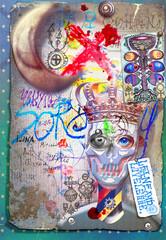 Manoscritti misteriosi con disegni,tarocchi,ritagli e collage esoterici,astrologici e alchemici