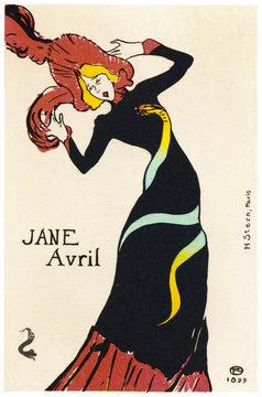 Jane Avril - Lautrec 1899. Date: 1899
