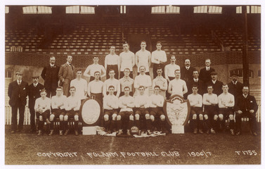Football - Team Pic - Fulham. Date: 1906/7