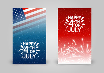 Set of 240 x 400 vertical banners for Independence day