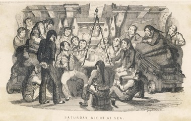 Saturday Night at Sea. Date: circa 1825