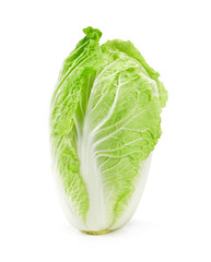 Green lettuce isolated on white background, Chinese cabbage on white