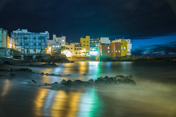 Playa Jardin.Puerto de la Cruz, Spain.night photography