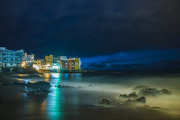 Playa Jardin.Puerto de la Cruz, Spain.night photography