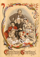 Family Gathering. Date: 1867
