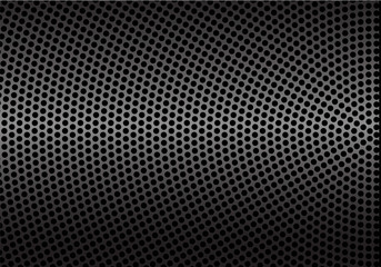 Abstract gray metal circle mesh pattern background texture vector illustration.