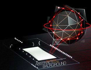Abstract technology scene vector design concepts background