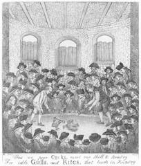 Cockfighting (John Kay). Date: 1785