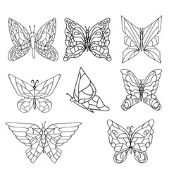 Butterflies set for your design vector eps 10