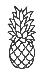 Cute Handdrawn Pineapple. Trendy Tropical Element. Vector.