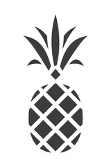 Pineapple silhouette. Trendy Tropical Icon. Vector.