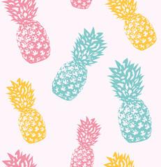 Trendy Pineapple pattern. Endless. Vector Illustration.