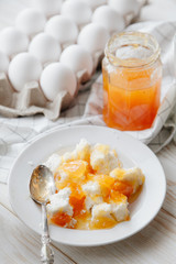 eggs and cottage cheese