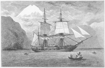 Hms Beagle - Darwin's Ship. Date: 1832