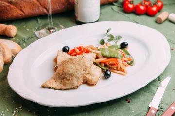 salads and hot for restaurant menu