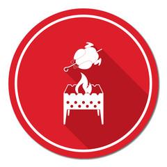 Brazier and chicken icon