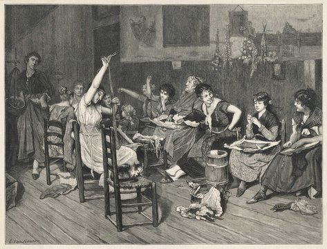 Milliners at Work. Date: 19th century