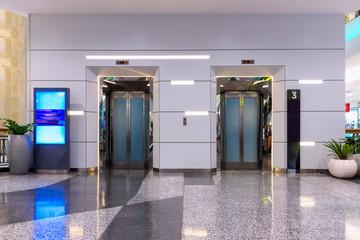 Double elevators in department