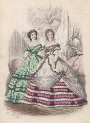 Eveving Wear 1862. Date: 1862