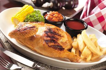 Grilled chicken set