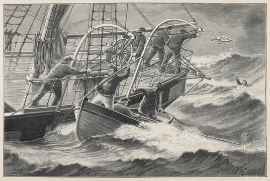 Man Overboard!. Date: 1899