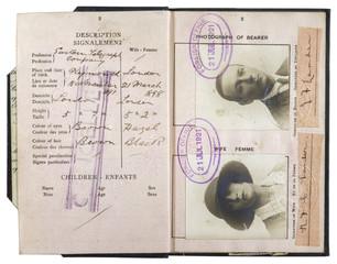 Passport 1921. Date: 1921