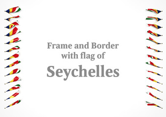 Frame and border with flag of Seychelles. 3d illustration