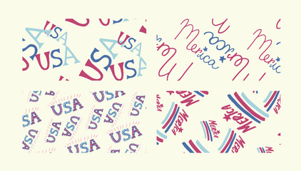 Vector icon of USA against yellow background