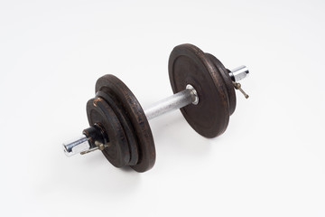 Dumbbell for Cuts on a white background