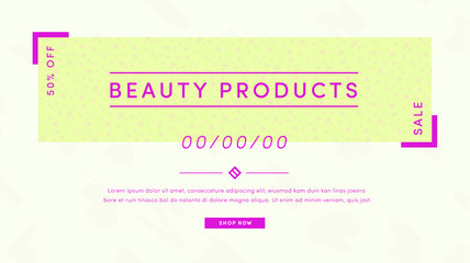 Vector set of greetiing card with beauty products text against white background