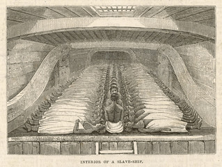 Stowage of Slaves. Date: 1843