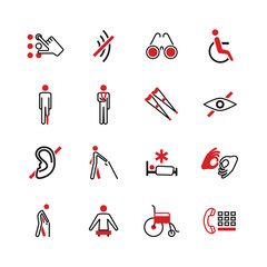 Disabled vector icons