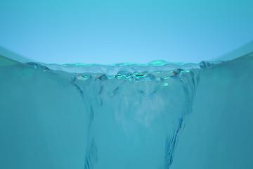 器からあふれる水