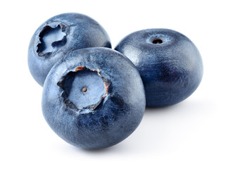 Blueberry. Blueberries isolated on white background. With clipping path.