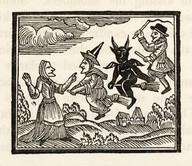 Demon and Witches. Date: circa 1600