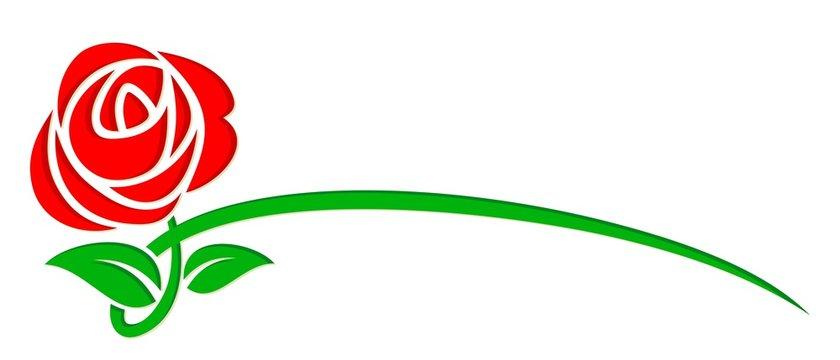 logo stylized rose.