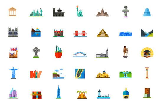 Places icon set