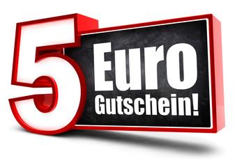 5 Euro Gutschein! Button, Icon