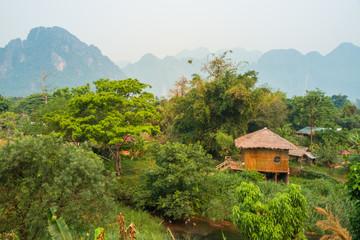 Shelter in Vang Vieng, Laos