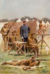 Shooting at Bisley. Date: 1910