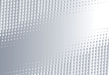 Halftone gradient dots texture. Creative geometric pattern. Vector abstract background.